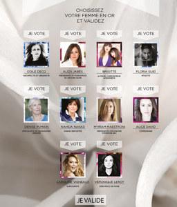 Les cadidates du Trophée du Public des Femmes en Or 2014