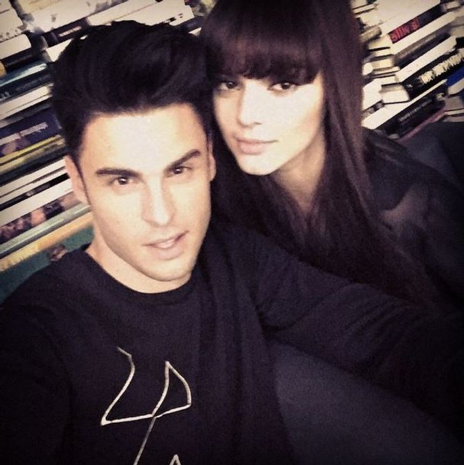 Baptiste Giabiconi et Kendall Jenner.