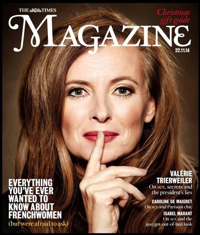 Valérie Trierweiler en couverture du Times Magazine