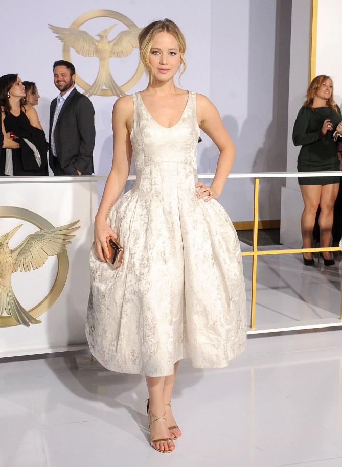 Jennifer Lawrence stylée pour Hunger Games.