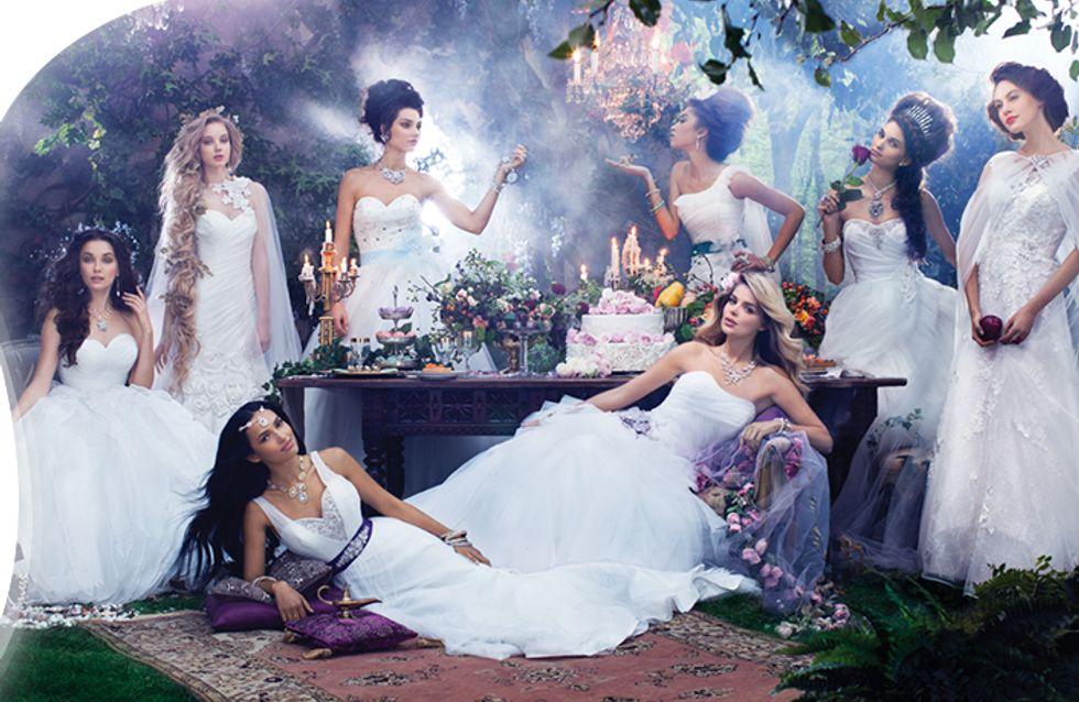 Ce designer s'inspire des princesses Disney pour créer des robes de mariée