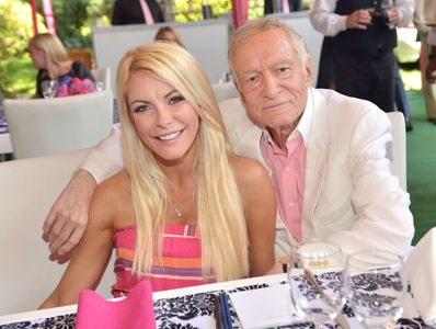 Crystal Harris y Hugh Hefner