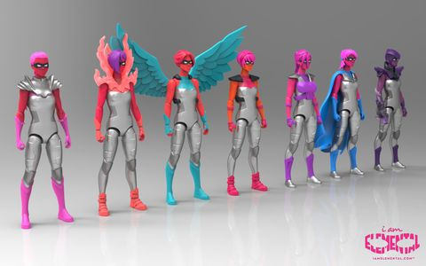 Les super-héroïnes I am Elemental