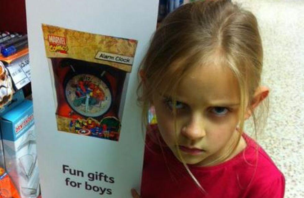 Une fillette s'indigne du sexisme dans un supermarché