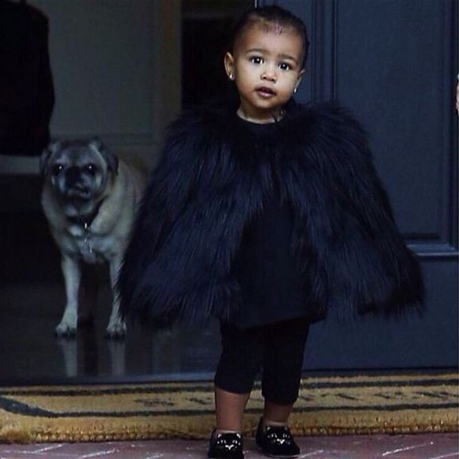 Le dernier look bling bling de North West
