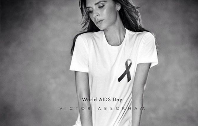 Victoria Beckham pose pour la lutte contre le Sida