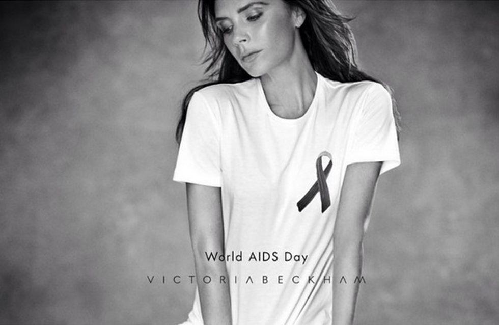 Victoria Beckham lance un T-shirt pour lutter contre le Sida (Photos)