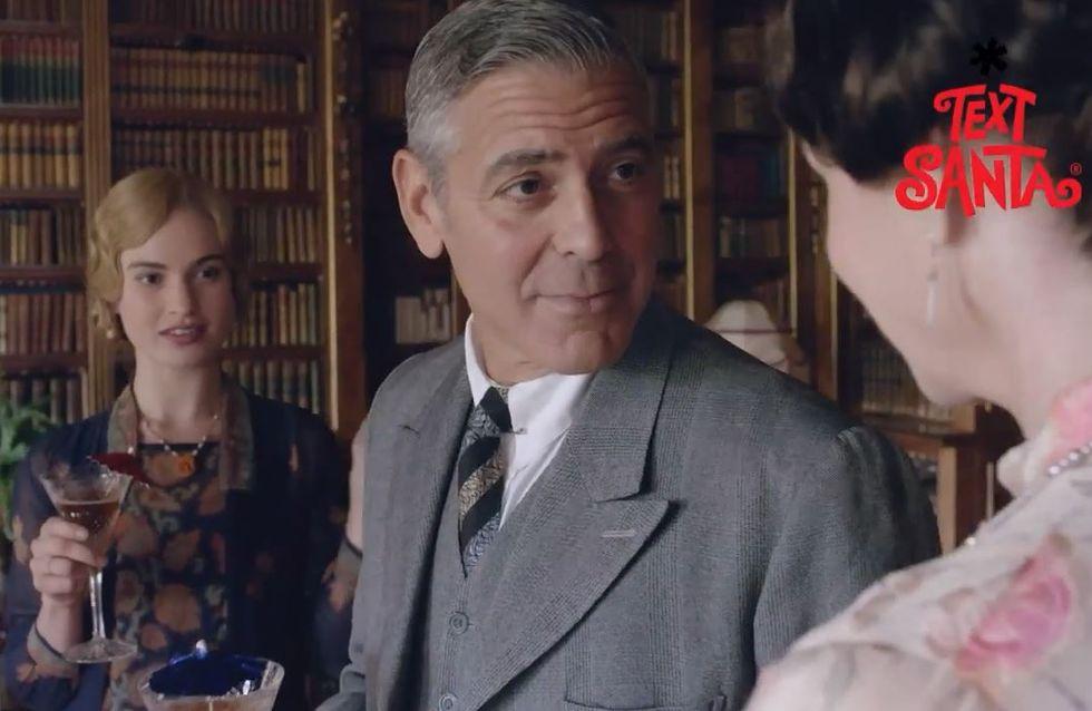 George Clooney, gentleman américain dans Downton Abbey (Photos et vidéo)
