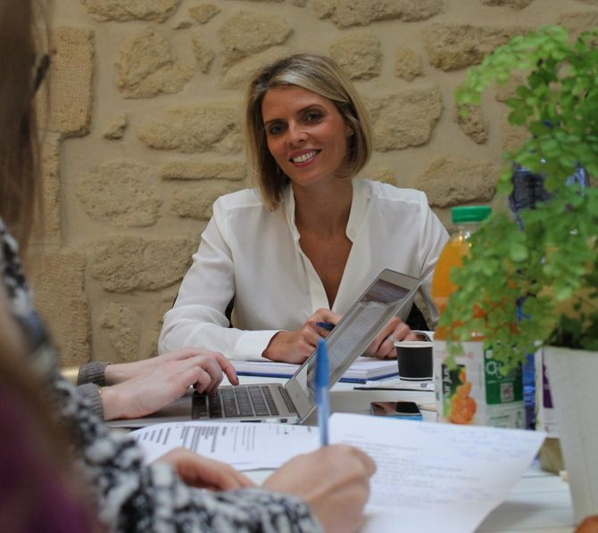 Sylvie Tellier rédac chef d'un jour pour aufeminin.com