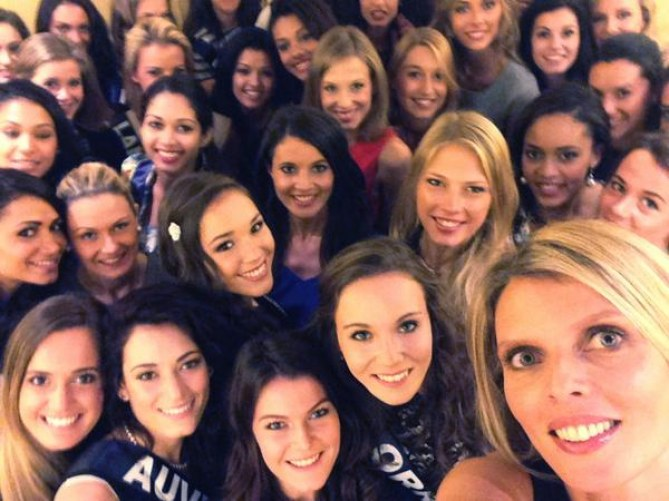Sylvie Tellier et les prétendantes pour Miss France 2015