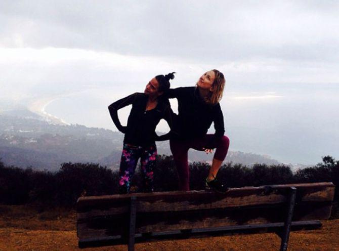 Kate Hudson si allena per mantenersi in forma