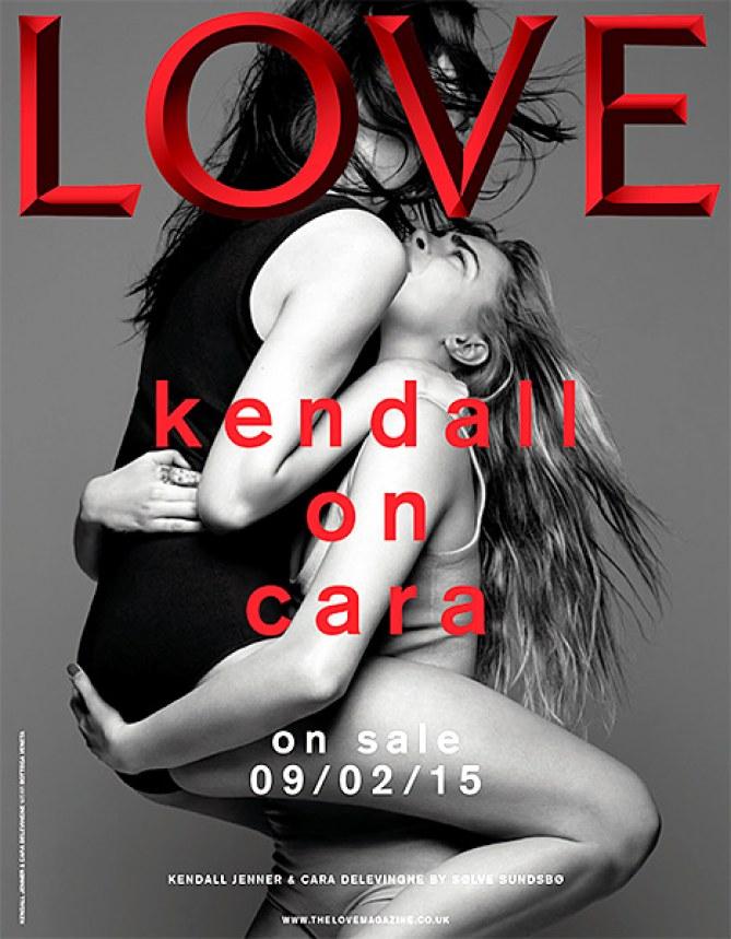 Kendall Jenner et Cara Delevingne pour le Love Magazine.