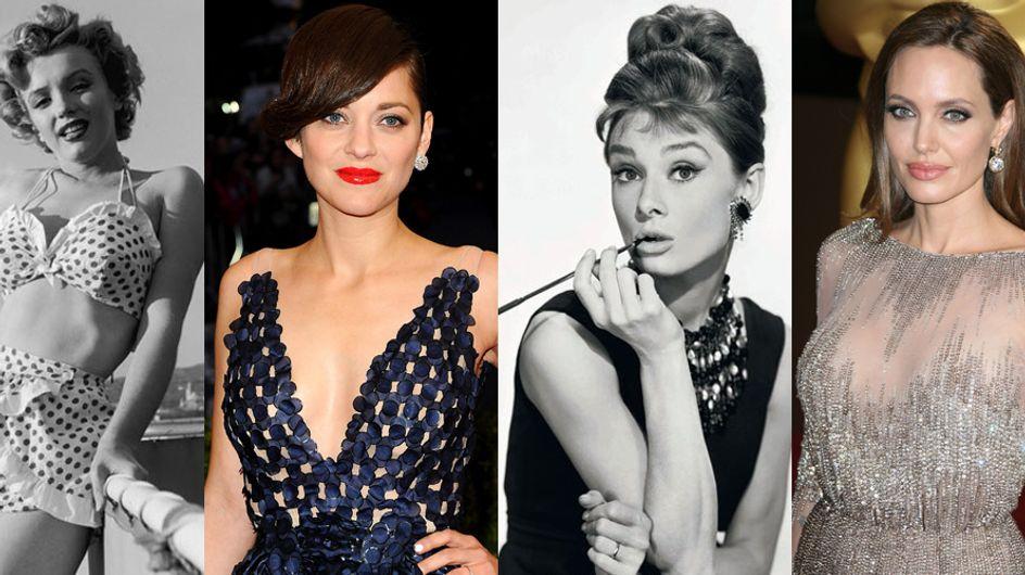 Sensuale come Marilyn e Angelina o raffinata come Audrey e Marion? Le icone di seduzione che hanno fatto la storia