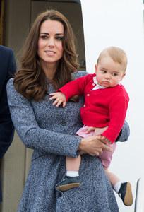 Kate et William avec le royal baby
