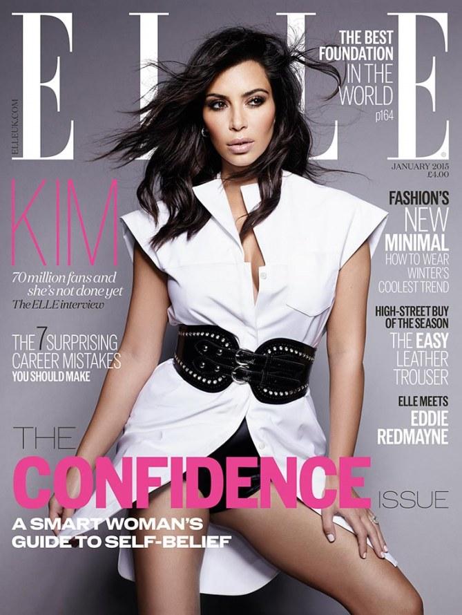 Voici l'édition de janvier 2015 de Elle UK.