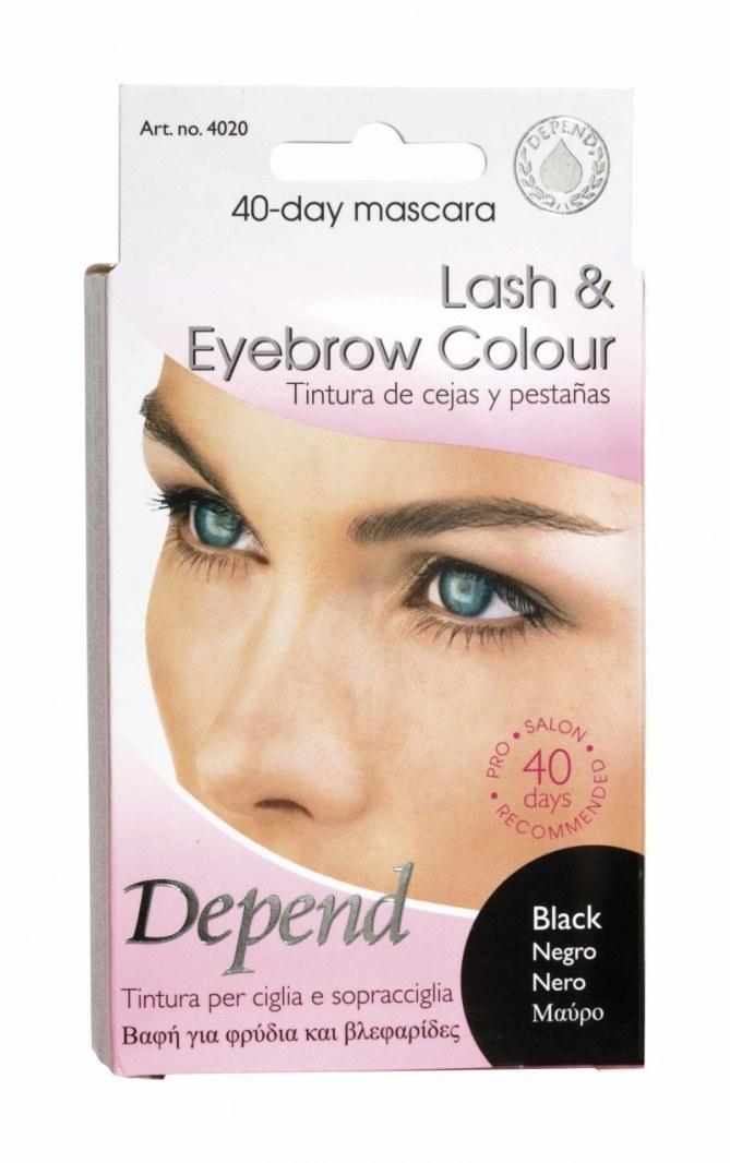 Tintura per sopraciglia nei colori: castano/ nero/ testa di moro di Depend Cosmetic by Zeca