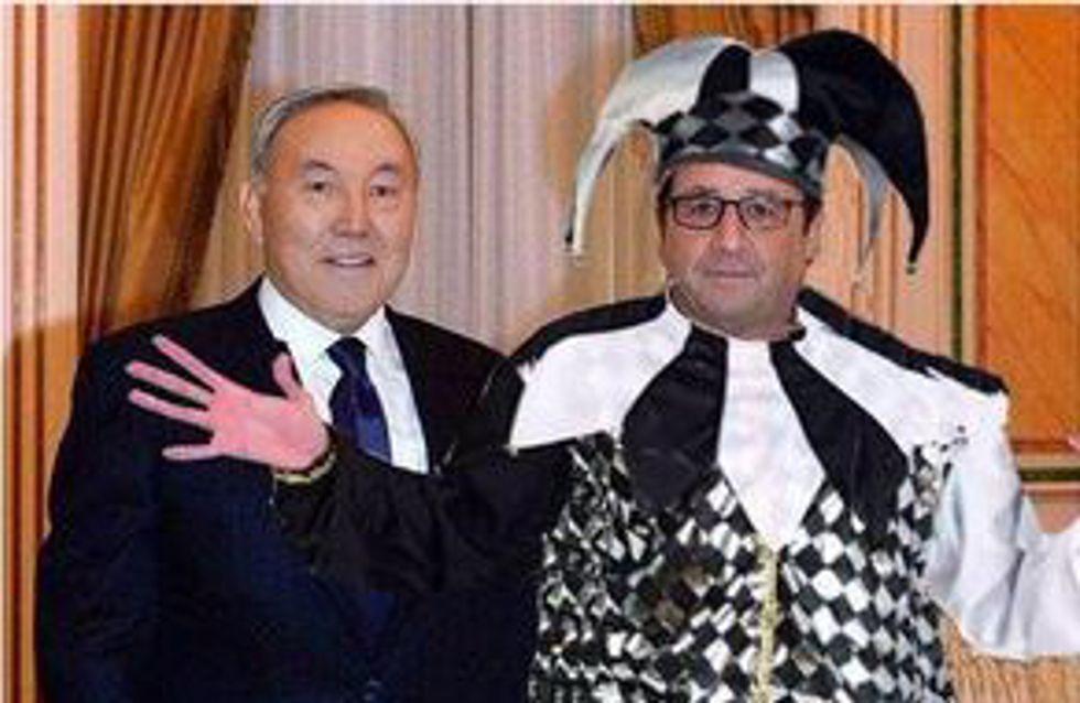 François Hollande devient la risée du Web après sa visite au Kazakhstan (Photos)