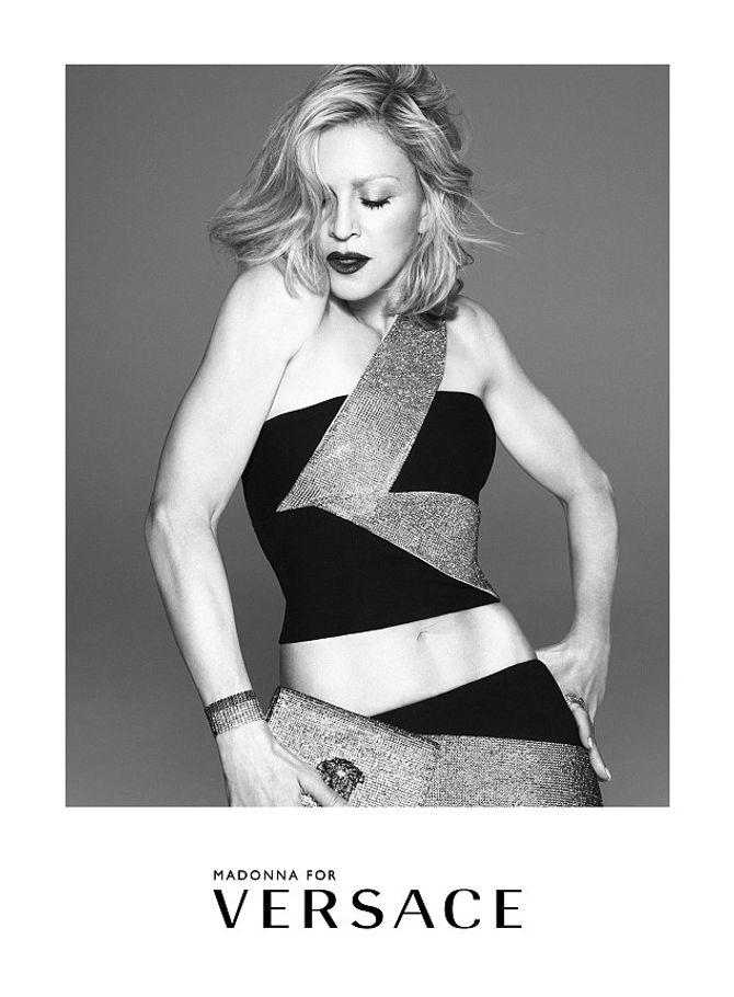 Madonna pour Versace