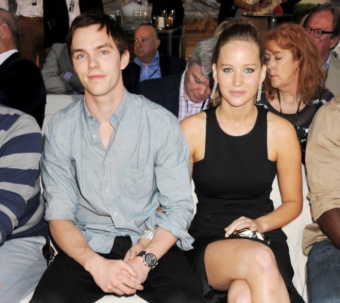 Nicholas Hoult et Jennifer Lawrence.