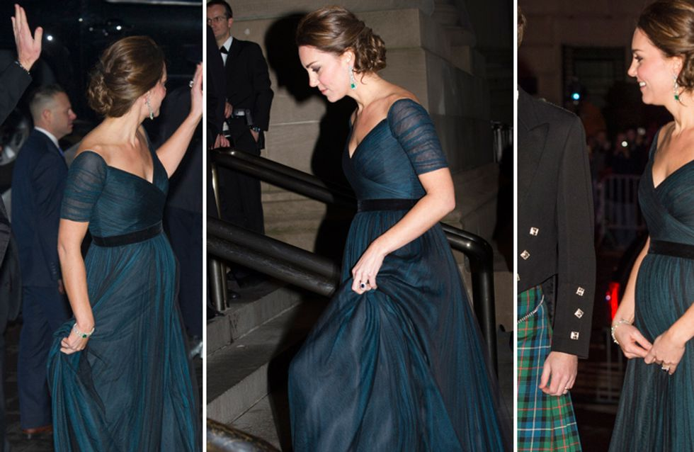 Abiti Eleganti Kate Middleton.Kate Middleton Splendida In Abito Da Sera Con Il Pancino In Evidenza