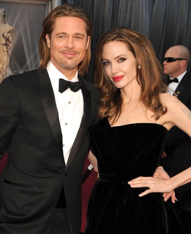 Brad Pitt et Angelina Jolie aux Oscars.