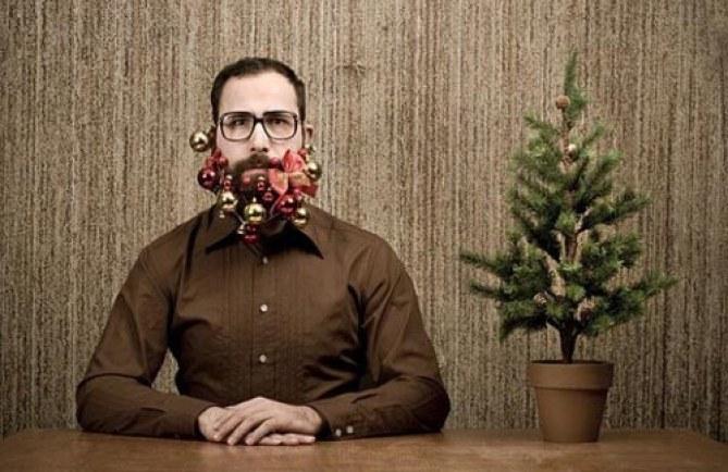 Adornos navideños para barbas