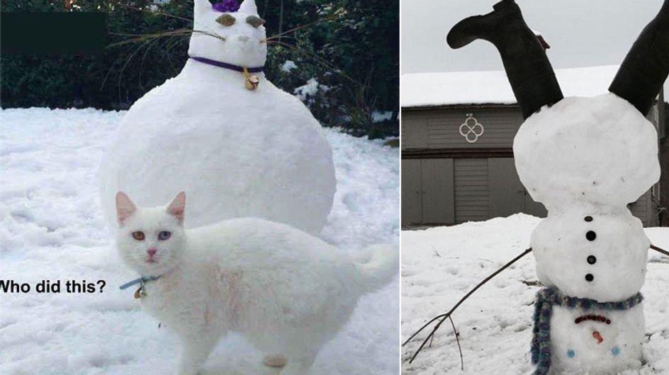 Winter, wo bleibst du? Wir wollen Schneemänner bauen!