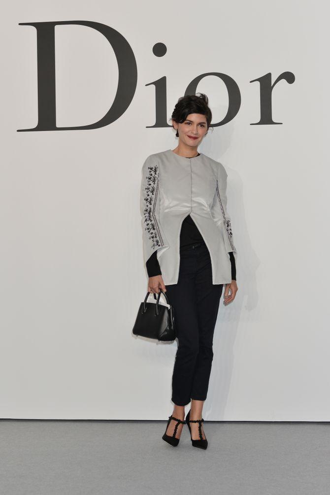 Audrey Tautou, au défilé Esprit Dior, le 11 décembre 2014