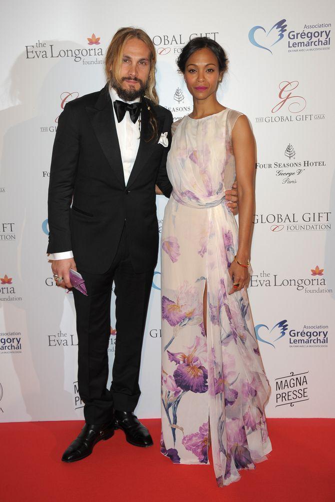 Zoe Saldana e il marito Marco Perego