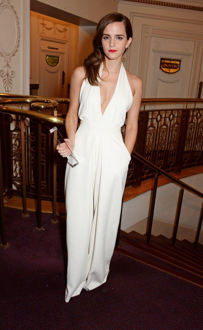 Emma Watson aux British Fashion Awards.