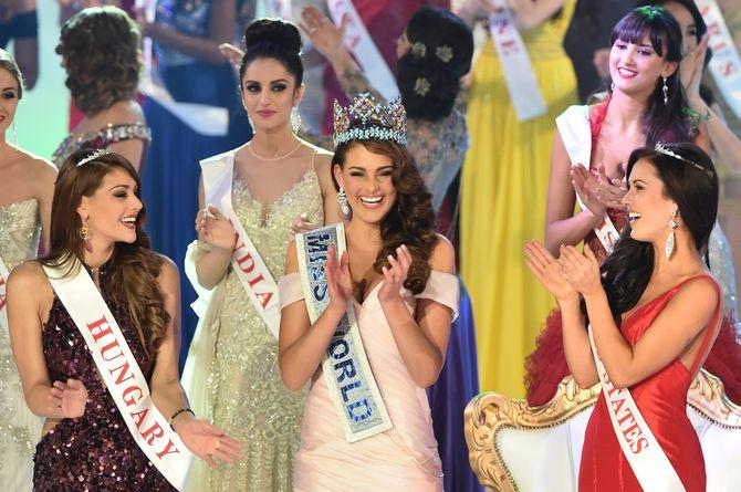 Le trio gagnant de Miss Monde 2014.
