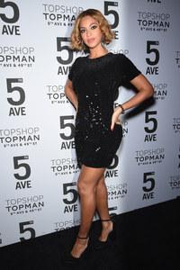 Beyoncé à la soirée Topshop.