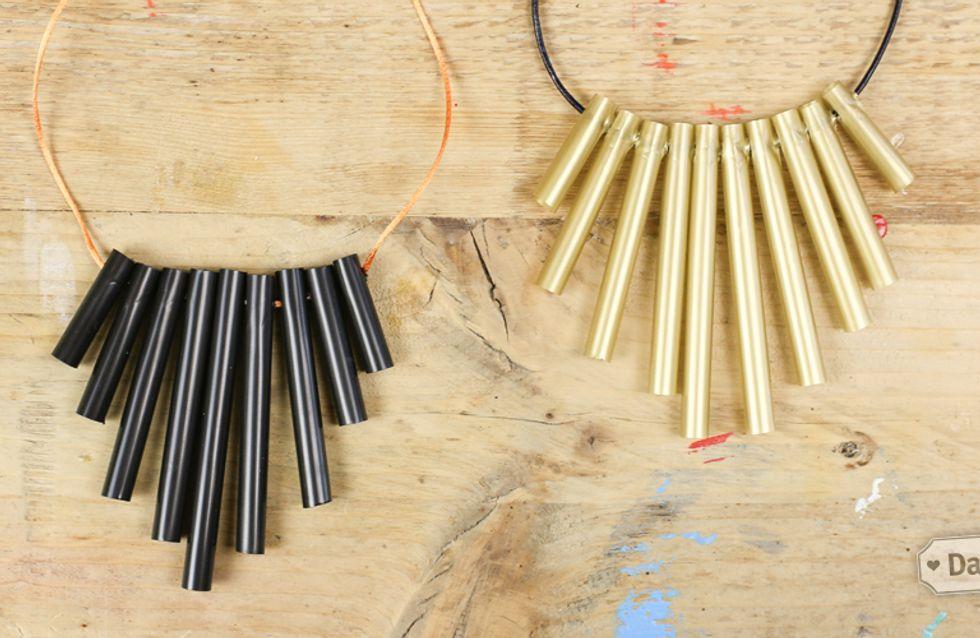 Fashion DIY/ Segui il tutorial step by step e scopri come creare una collana con le cannucce