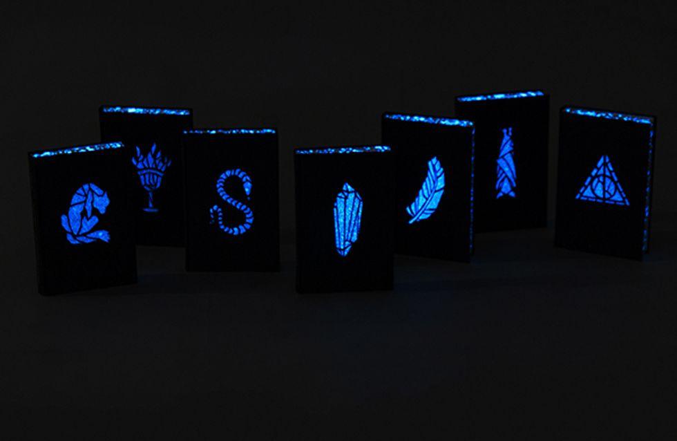 Lumus! Estudante de design cria capas para os livros de Harry Potter que brilham no escuro