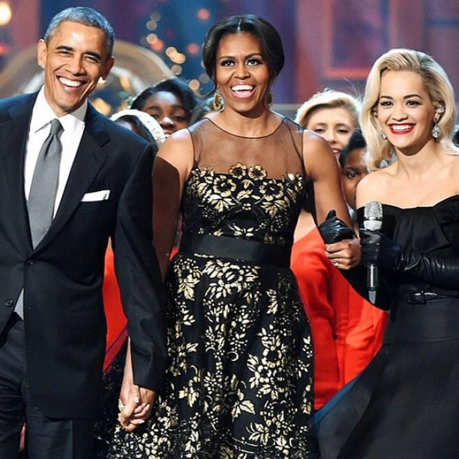 Rita Ora und die Obamas