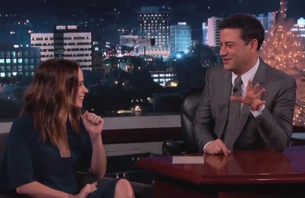 Emily Blunt And John Krasinski Have An Ongoing Christmas Prank Feud With Jimmy Kimmel