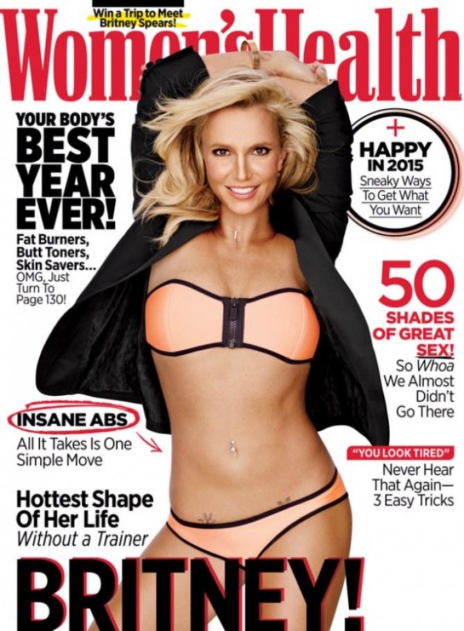 Britney Spears sulla cover di Women's Health