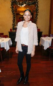 Nicole Richie portant la veste de sa fille Harlow