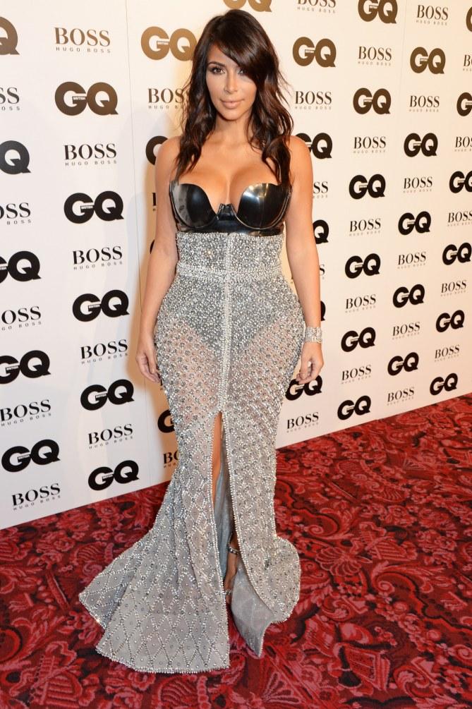 Kim Kardashian à la soirée GQ.