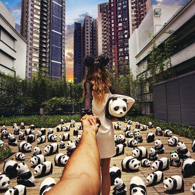 Pandaausstellung in Hongkong