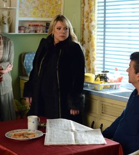 Eastenders 05/01 - Carol is shocked when she sees Max tearing up information on Lucy's investigation