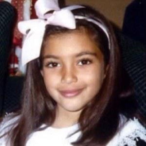 Kim Kardashian à l'âge de 7 ans