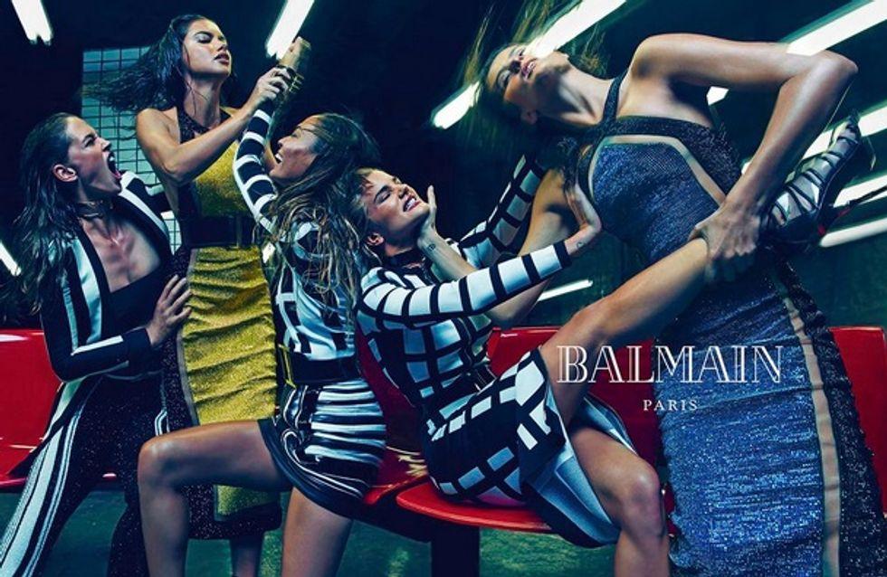 """Balmain : Une """"army"""" de mannequins pour la nouvelle campagne (Photos)"""