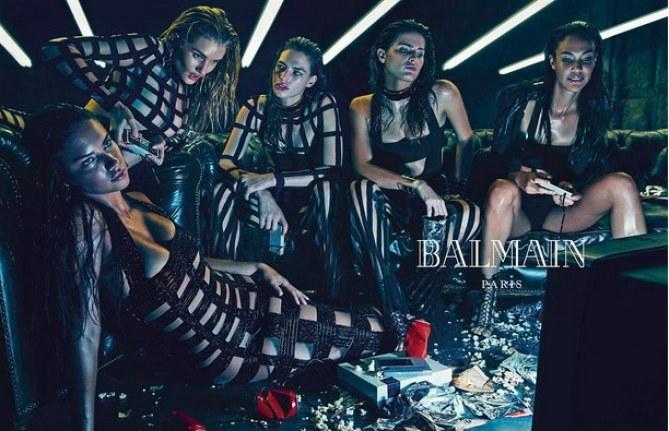L'armée de mannequins pour la nouvelle campagne 2015 Balmain