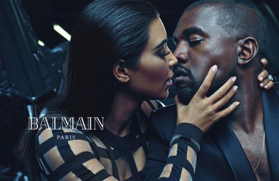 Kim Kardashian et Kanye West, duo complice pour Balmain
