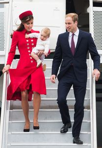Le prince William, Kate Middleton et le prince George