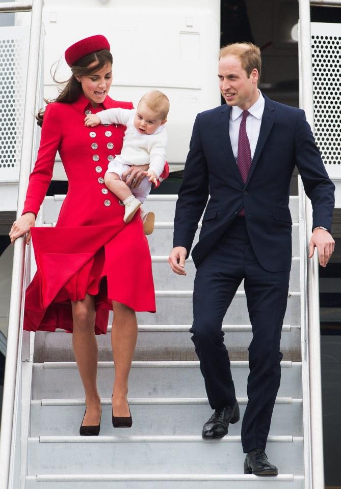 Le prince William, Kate Middleton et le prince George