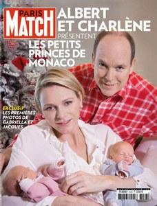 Albert et Charlène de Monaco avec leurs jumeaux