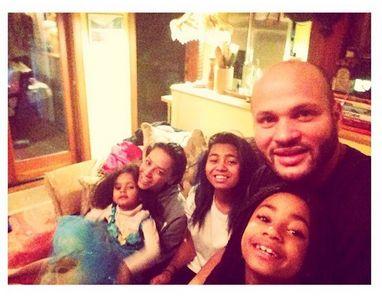 Mel B en famille pour Noël