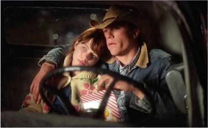 Michelle Williams et Heath Ledger dans Le Secret de Brokeback Mountain